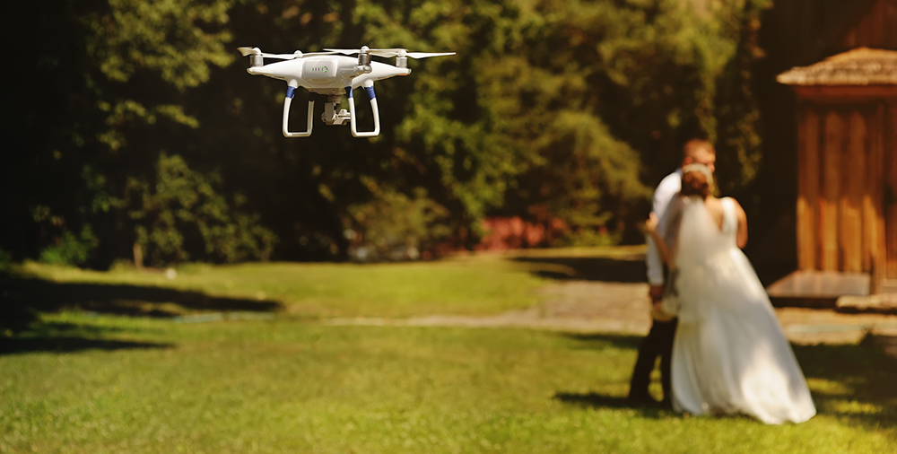 Are modern weddings going a little too far book of weddings for Drone wedding photos